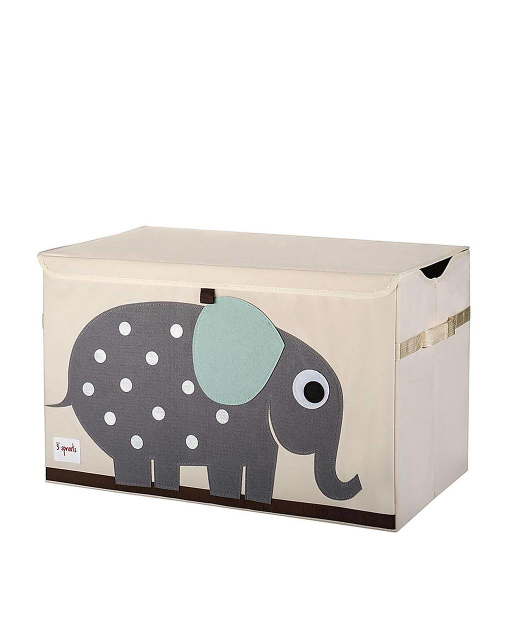 Baule Portagiochi - Elefante - Riordina la Cameretta con Fantasia