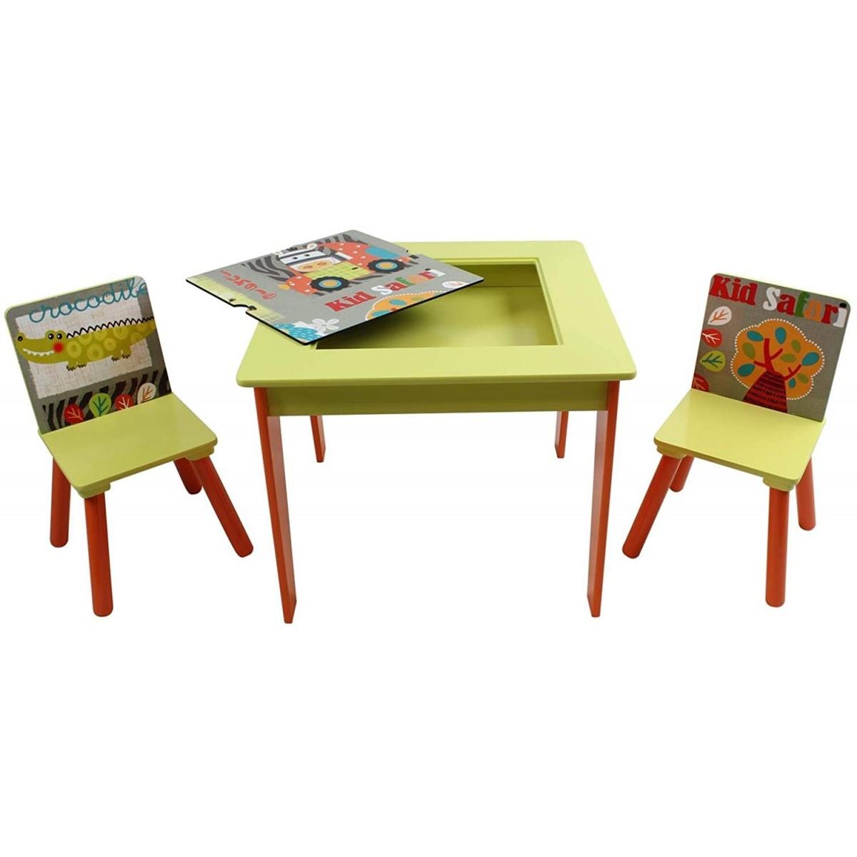 A di ARTE - Tavolo con Lavagna e 2 Sedie GIUNGLA