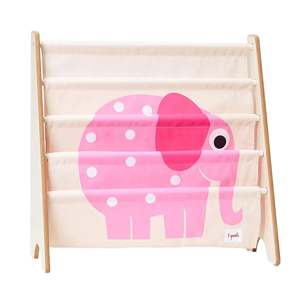 Libreria Frontale Montessoriana per Bambini - Elefante Rosa